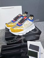 Versace Adam Paris Rahat Ayakkabılar Eğitmenler Baba Ayakkabı Sneaker Siyah Boy Erkek Bayan Beyaz En İyi Kalite Koşucu Chaussures WLGC190319