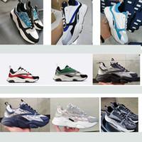 luxurys diseñadores b22 zapatilla de lona de la zapatilla de deporte de punto de becerro Técnica Calzado Hombres Mujeres plana Trainer real cuero de la plataforma zapatillas de deporte con la caja