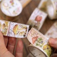 1 pacco retrò Serie retrò serie washi nastro di carta fai da te scrapbooking animale fungo decorativo bollo-collection-collection etichetta