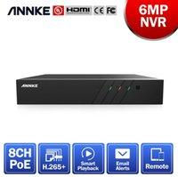 Annke 8ch 6MP POE grabador de video H.265 + NVR para HD PoE 2MP 3MP 4MP 5MP 6MP IP POE CAMERAS Sistema de seguridad de vigilancia en el hogar LJ201208