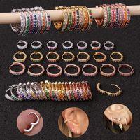 1 UNID 6mm / 8mm / 10mm Pendientes de cartílago CZ multicolor multicolor de 10 mm Pendientes de cartílago de acero inoxidable Tragus Daith Conch Rook Snug Piercing Jewelry1
