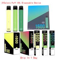Puff XXL 1600Puffs descartáveis com código de segurança Vape Pen dispositivo starter kits vazio dispositivo descartável kits bang xxl posh sopro posl