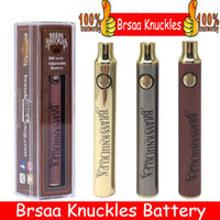 Brass Knuckles Battery 650mAh Good 900mAh Wood SS Vape Pen Preheat VV Variable Voltage Usb Charger Battery For 510 Thick Oil Cartridge Tank