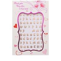 Письмо панк стиль ногтей наклейка горячего тиснения серебряный цвет золотые цвета женские красоты ногтей арт наклейка мода высокое качество липкие советы 1LR L2