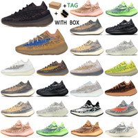 adidas Kanye West yeezy boost 380 v3 yezzy yeezys Top Factory yecheil Quality 2021 Men Sneakers Alien Mist Black Camo chaussures Women Running Shoes Receipt Socks Keychains