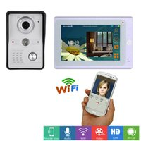 نظام دخول 7INCH اللاسلكية / واي فاي السلكية IP الفيديو باب الهاتف الجرس إنترفون مع IR-CUT HD 1000TVL السلكية كاميرا للرؤية الليلية