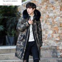 Winter Duck Down Jacket Men Camouflage Long Coat Raccoon Fur Collar Warm Men's Jackets 19001 KJ34461 Men's & Parkas