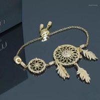 2020 New Fashion Gold Dream Catcher Design Braccialetto Catena di fantasia di alta qualità Braccialetto originale per le donne1
