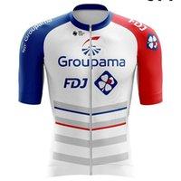 Aero Cycling Jersey FDJ Groupama 2021 Männer Blaue Fahrradkleider Kit Sommer Hemden Pro Team UCI Racing Bike MAILLT Atmungsaktiv Ciclismo ROPA