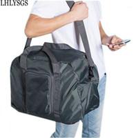 LYSGS Wasserdichte Nylon Sports Falten Gepäcktaschen Unisex Mode Faltbare Reisetasche Hand Gepäck Umhängetasche