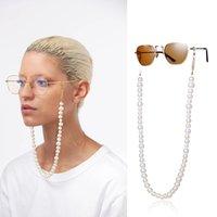 Fahsion imitação pérola lendo óculos cadeia para mulheres boho cordão de pescoço antiderrapante óculos de sol cadeia acessório de óculos de óculos