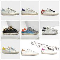 Golden Sneakers سوبر ستار المدربين الكلاسيكية بريق القيام به إيطاليا ديلوكس ماركة الترتر الأحذية القذرة مصمم نجم رجل حذاء
