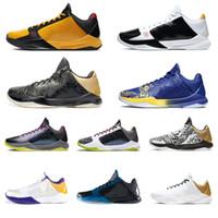 Mamba Zoom 5 Protro Homens Sapatos de Basquete Alternate Bruce Lee Grande Palco Chaos II Lakers Roxo Branco Night Treinadores Esportivos Sneakers