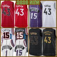 2021 جديد فينس 15 كارتر كرة السلة جيرسي باسكال 43 Siakam رجل كايل 7 Lowry Mesh الرجعية تريسي 1 ماكجرادي الشباب أطفال ماركوس 21 كامبي الأزرق