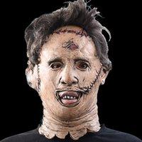 The Texas Chainsaw Massacre Leatherface Máscaras Assustador Filme Cosplay Cosplay Costume Costume Props Alta Qualidade Brinquedos Festa Látex Máscara Y200103