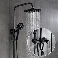Ванная комната для душа для ванной комнаты BiDet Mapet Набор черной латуни Горячая и холодная ванная комната для ванной комнаты Смеситель для душа Mixer Mixer1