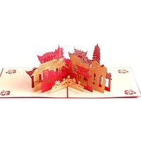 3D City Hollow Carved Cards Up Greeting Card Laser Cutting Landmark Building Dies Envelope Handmade Invitations Gifts