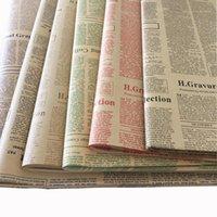 Vintage Kraft Kağıt İngilizce Gazete Çiçek Ambalaj Kağıdı Noel Partisi Dekoratif Buket Ambalaj Malzemesi 45 Sayfalar / PACK1