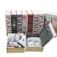 Orta Ev Güvenlik Sözlük Anahtarı Kitap Güvenli / Kilit Kutusu / Depolama / Kumbara Yaratıcı Para Kutusu Ev Aksesuarları 17.7x11.2x5.2 cm LJ200812