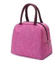 Tragbare Massivfarbe Handtasche der neuen Herren und Frauen 5 Farben grau rot Rosa Blaue Business Baumwolle weiche plaino6nl468