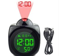 Projection Alarm Clock With Led Lamp Digital Voice Talking F...