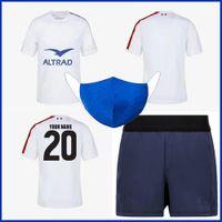 2020 França Away Rugby Jersey 2021 França Rugby Training Shorts Jersey Tamanho S-M-L-XL-XXL-3XL-4XL-5XL