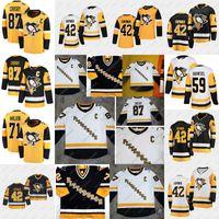 2020-21 Reverse Retro Retro Crosby Jersey Pittsburgh Penguins Jake Guentzel Evgeni Malkin Phil Varone Bryan Rust Kris Letang Casey Desmith