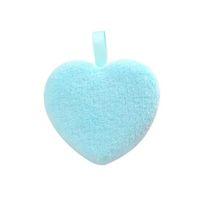 Herz Form Puff Frau Make-up Remover Reinigungswerkzeug Kurzer Plüschstoff Doppelsicht Flauschige Reinigungsmittel Pulver Hautwaschmaschine