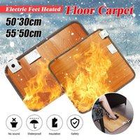 Almofada de aquecimento elétrico 220V pés térmica pés aquecedor aquecido piso tapete tapete almofada home office morne pés1