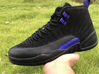 Orijinal Sürüm Birliği 12 Basketbol Ayakkabı Koyu Concord XII Gerçek Karbon Fiber Moda Eğitmenleri Gemi Kutusu Ile