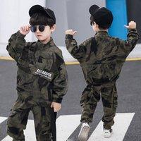 Ragazzi 2pcs vestito di sport Uniforme militare PUBG bambini Imposta Big Boy vestiti delle ragazze tuta mimetica per Kid Abbigliamento casual Set C1105