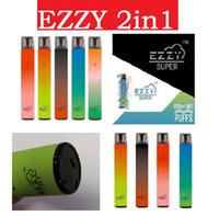 Ezzy Super 2in1 Dispositif de Vape jetable 2000 Puff 6,5 ml Système de pod portable de 6,5 ml 2 en 1 kit de stylo de vapeur pour onee bâton