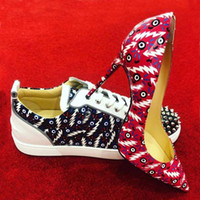 Çiftin Ayakkabı Erkekler Sneaker Topuklu Set Severler, Paris Kırmızı Alt Erkekler Junior Spiked 2 Orlato Casual Düz, Kırmızı Sole Yüksek Tops Düğün Ayakkabı