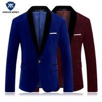 Männer Anzüge Blazer Männer Slim Royal Blue Samt Red Anzug Jacke Neueste Mantel Klassische Hochzeit Luxus Velours Blazer Kleid Bräutigam