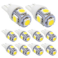 100x T10 LED 자동차 라이트 W5W 5050 194 168 T10 LED 전구 자동 웨지 클리어런스 램프 T10 웨지 측면 전구 자동차 라이센스 라이트 새로운 도착