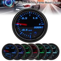 Araba Ölçer 2 inç 52mm Turbo Mekanik Boost Ölçer Vakum Basın Ölçer -12 Bar 7 Renk LED Siyah Len 12 V