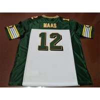 Benutzerdefinierte 604 Jugendfrauen Vintage Edmonton Eskimos # 12 Jason Maas Football Jersey Größe S-4XL oder benutzerdefinierte Name oder Nummer Jersey