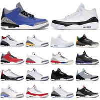 Basketbol Ayakkabıları Erkekler 3 S Jumpman 3 Kraliyet Çimento Yangın Kırmızı Siyah Beyaz UNCT Üniversitesi Kırmızı Tinker Erkek Trianers Moda Spor Sporları Sneakers