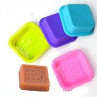 Hopestar168 Delicato simpatico artigianato Art Square Silicone Forno sapone fatto a mano Stampi per sapone fai da te Stampi da forno Stampi casuali 74 G2