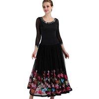 Bühne tragen Ballsaal Tanzkleider Stickerei Blume Standard Dance Kleid Junior MQ085Ballroom MQ061