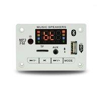 MP4 Players 12V Sem Fio Bluetooth 5.0 MP3 WMA Decoder Board Módulo de Áudio Suporte USB TF AUX FM Função de gravação para Acessórios para automóveis1