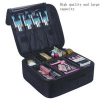 حالات العلامة التجارية ماكياج الفنان المهنية الجمال مستحضرات التجميل مع حقيبة ماكياج شبه الدائم الوشم الأظافر متعدد الطبقات حقيبة أدوات كبيرة