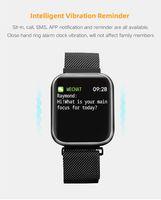 P80 الذكية ووتش المرأة IP68 ماء القلب رصد معدل اللياقة تعقب ضغط الدم الرياضة بلوتوث smartwatch USB شحن ووتش