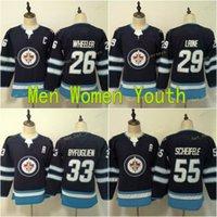 2021 niños para niños Winnipeg Hockey Jersey 29 Patrik Laine 26 Blake Wheeler 55 Mark Scheifele Dustin Byfugliens Steams Steinsed Shirt