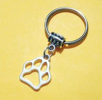 NUOVO CALDO Gatto Cane Claw / portachiavi Dog Paw Print Key ring come titolare del sacchetto chiave di fascino dell'anello chiave auto Hanging Crafts o decorazioni - 191