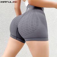 Donne Texture Sport Shorts Stretch Yoga Shorts Girl Energy Seamless Gestisce Gym Workout Tights Squatproof Short Leggings