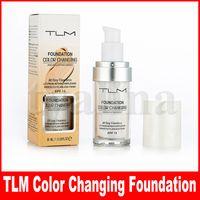 TLM 완벽한 색상 변화 액체 파운데이션 30ml 롱 마모 메이크업 블렌딩하여 피부 색조로 변경