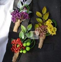 Guirnaldas de flores decorativas 4 piezas / lote DIY Calla Lirios Corsage Clear Sweet Grooms Groomfriend hombres Boutonniere Pin Brooch Party Dic