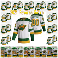 Minnesota Wild 2021 Ters Retro 20 Ryan Suter 11 Zach Parise 97 Kirill Kaprizov 22 Kevin Fiala 90 Marcus Johansson 33 Cam Talbot Jersey