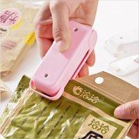 El sellador de calor portátil paquete de plástico bolsa de almacenamiento Mini Máquina selladora de impulso práctico inferior magnética Etiqueta de cocina Accesorios DBC BH4233